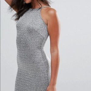 Silver fitted dress